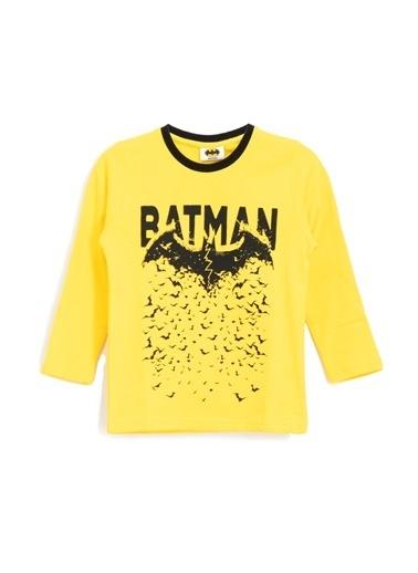 Batman Batman Lisanslı Erkek Çocuk Sweatshirt Siyah Sarı